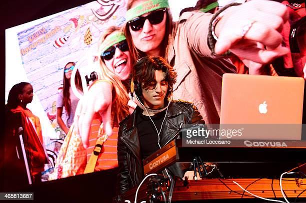 Blake Michael performs onstage at the Aquafina FlavorSplash PepsiCo Super Bowl XLVIII celebration at Bryant Park on January 29 2014 in New York City