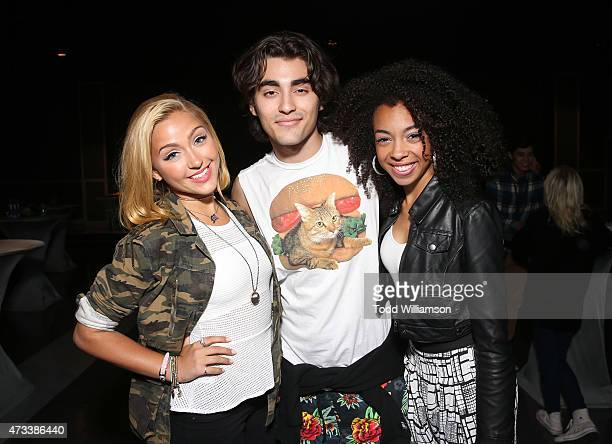 Blake Michael with Sweet Suspense at the launch Of Knott's Berry Farm's new ride Voyage To The Iron Reef at Knott's Berry Farm on May 14 2015 in...