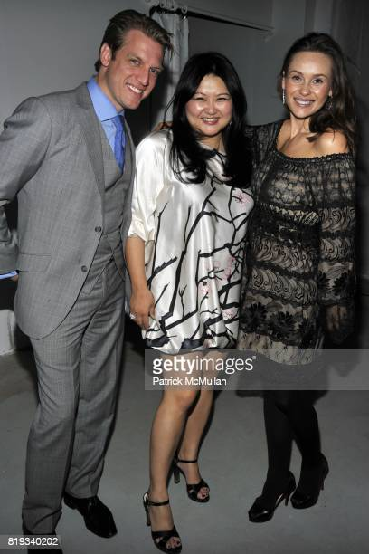 Blake Morris Susan Shin and Beata Bohman attend Susan Shin's Birthday Celebration at Alex Charriol's Gallery on April 28 2010 in New York City
