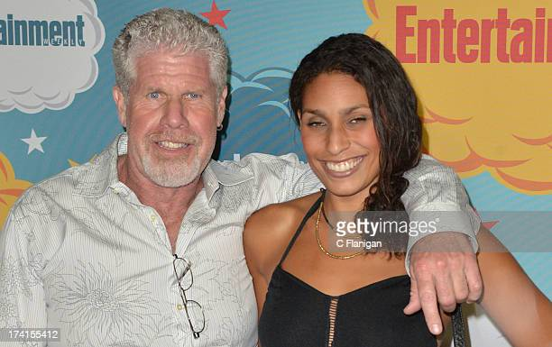 Blake Perlman and Ron Perlman arrive at Entertainment Weekly's Annual ComicCon Celebration at Float at Hard Rock Hotel San Diego on July 20 2013 in...