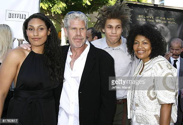 Blake Perlman Ron Perlman Brandon Perlman and Opal Perlman arrive at the 2008 Los Angeles Film Festival's HellBoy II The Golden Army Premiere at the...