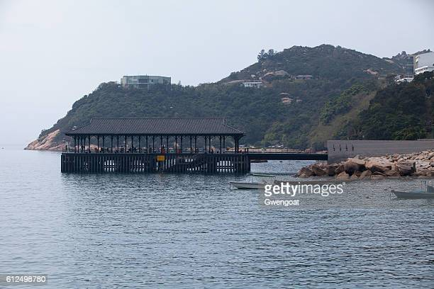 blake pier at stanley - gwengoat stock pictures, royalty-free photos & images