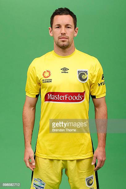 Blake Powell of the Mariners poses during the Central Coast Mariners ALeague headshots session at Fox Studios on September 2 2016 in Sydney Australia