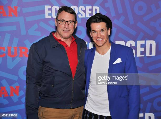 Blake Reshard and Tony Sirus attend the celebration of Women's History Month on it's Opening Night of Eclipsed at the Curran Theater on March 9 2017...