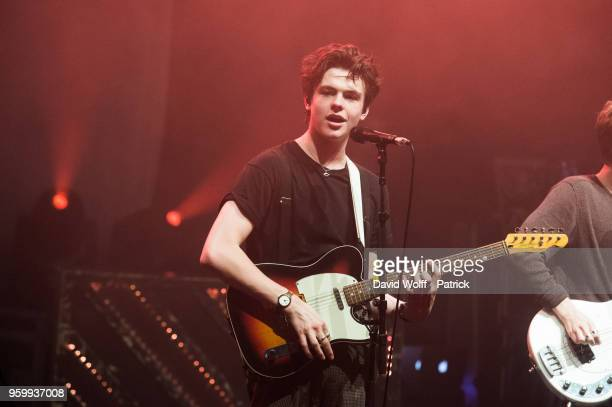 Blake Richardson from New Hope Club opens for THe Vamps at La Cigale on May 18 2018 in Paris France