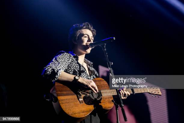 Blake Richardson of New Hope Club performs at Motorpoint Arena on April 17 2018 in Cardiff Wales