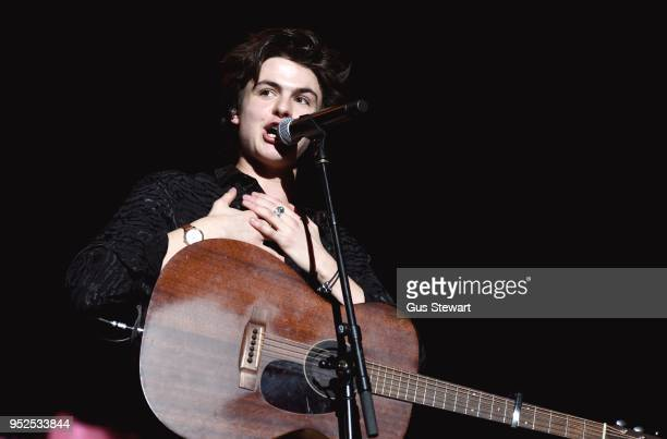 Blake Richardson of New Hope Club performs live on stage at The O2 Arena on April 28 2018 in London England