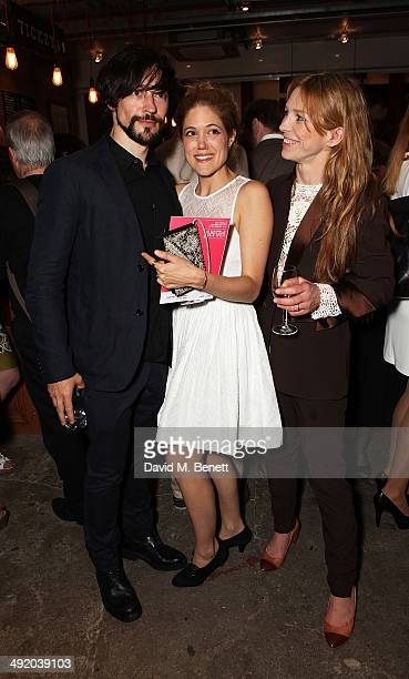 Blake Ritson Charity Wakefield and Honeysuckle Weeks attend Park Theatre's first birthday gala hosted by Sir Ian McKellen at Park Theatre on May 18...