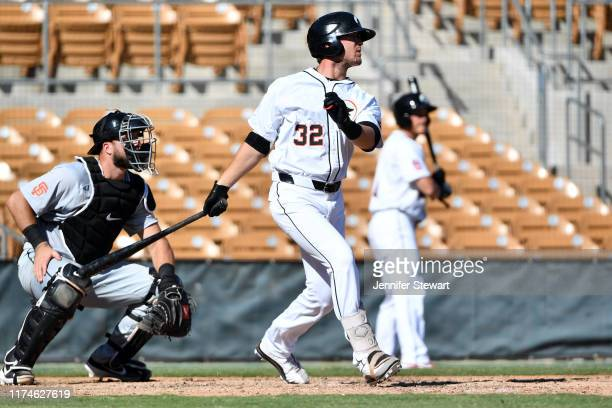 Blake Rutherford of the Glendale Desert Dogs at bat against the Scottsdale Scorpions at Camelback Ranch on Sunday October 6 2019 in Glendale Arizona