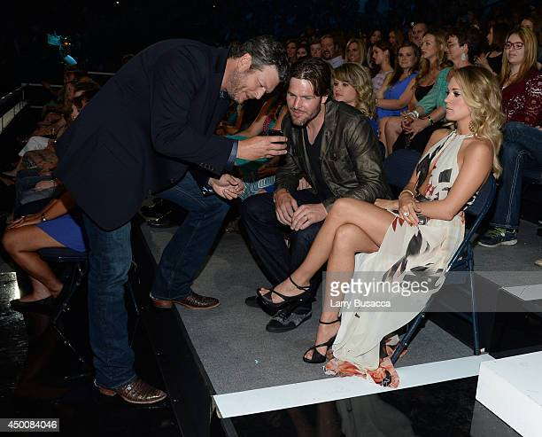 Blake Shelton and Carrie Underwood attend the 2014 CMT Music awards at the Bridgestone Arena on June 4 2014 in Nashville Tennessee