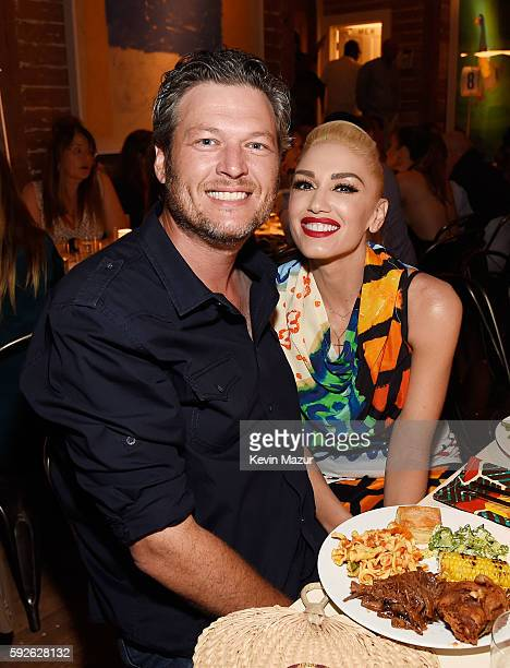 Blake Shelton and Gwen Stefani attend Apollo in the Hamptons 2016 at The Creeks on August 20 2016 in East Hampton New York