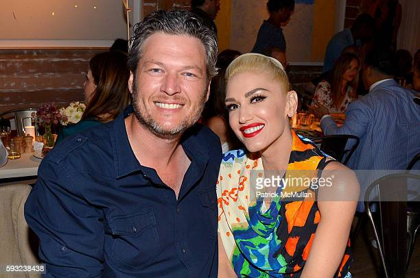 Blake Shelton and Gwen Stefani attend the Apollo in the Hamptons 2016 party at The Creeks on August 20 2016 in East Hampton New York
