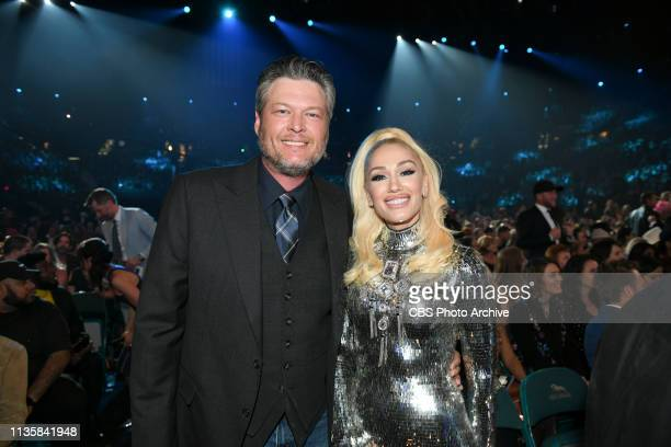 Blake Shelton and Gwen Stefani during the 54TH ACADEMY OF COUNTRY MUSIC AWARDS to broadcast LIVE from MGM Grand Garden Arena in Las Vegas Sunday...