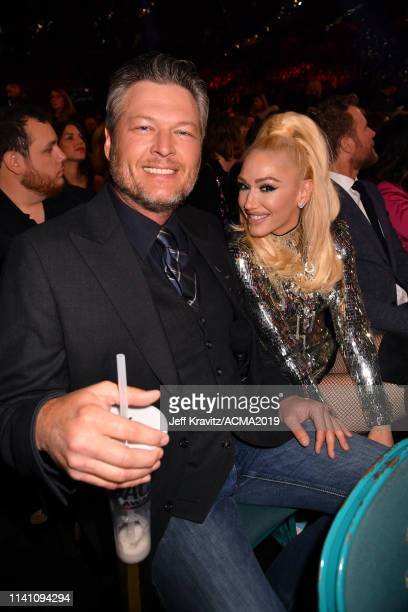 Blake Shelton and Gwen Stefani during the 54th Academy Of Country Music Awards at MGM Grand Garden Arena on April 07 2019 in Las Vegas Nevada
