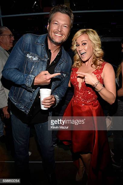 Blake Shelton and Kellie Pickler attend the 2016 CMT Music awards at the Bridgestone Arena on June 8 2016 in Nashville Tennessee