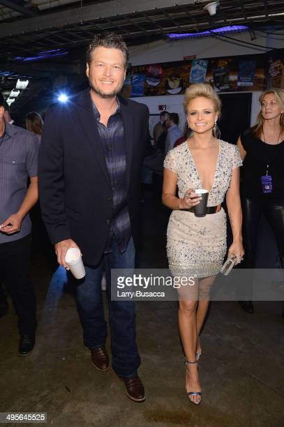 Blake Shelton and Miranda Lambert attend the 2014 CMT Music awards at the Bridgestone Arena on June 4 2014 in Nashville Tennessee