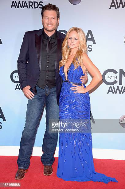 Blake Shelton and Miranda Lambert attend the 47th annual CMA Awards at the Bridgestone Arena on November 6 2013 in Nashville Tennessee