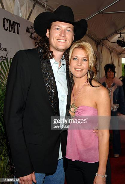 Blake Shelton and wife during 2005 CMT Music Awards Arrivals at Gaylord Entertainment Center in Nashville Tennessee United States