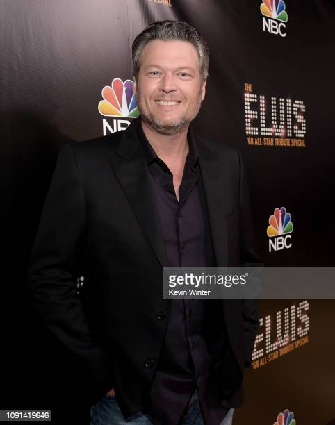 Blake Shelton appears backstage during The Elvis '68 All-Star Tribute Special at Universal Studios on October 11, 2018 in Universal City, California.