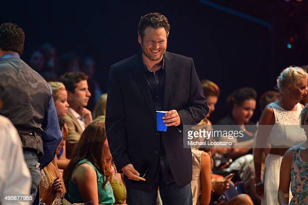 Blake Shelton attends the 2014 CMT Music Awards at Bridgestone Arena on June 4 2014 in Nashville Tennessee