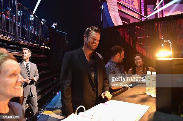 Blake Shelton attends the 2014 CMT Music awards at the Bridgestone Arena on June 4 2014 in Nashville Tennessee