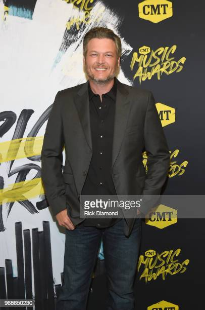 Blake Shelton attends the 2018 CMT Music Awards at Bridgestone Arena on June 6, 2018 in Nashville, Tennessee.