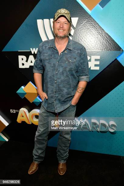 Blake Shelton attends the 53rd Academy of Country Music Awards Cumulus/Westwood One Radio Remotes at MGM Grand Garden Arena on April 14 2018 in Las...