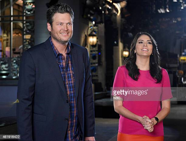 LIVE Blake Shelton Episode 1674 Pictured Blake Shelton and Cecily Strong on January 20 2015