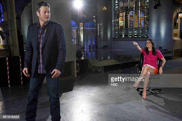 LIVE 'Blake Shelton' Episode 1674 Pictured Blake Shelton and Cecily Strong on January 20 2015