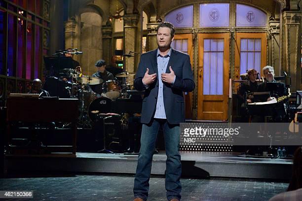 LIVE Blake Shelton Episode 1674 Pictured Blake Shelton during the monologue on January 24 2015