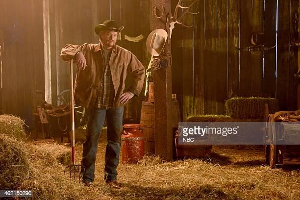 LIVE Blake Shelton Episode 1674 Pictured Blake Shelton during the Wishing Boot skit on January 24 2015