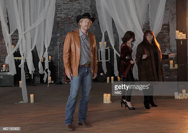 LIVE Blake Shelton Episode 1674 Pictured Blake Shelton Kate McKinnon and Aidy Bryant during the Wishing Boot skit on January 24 2015