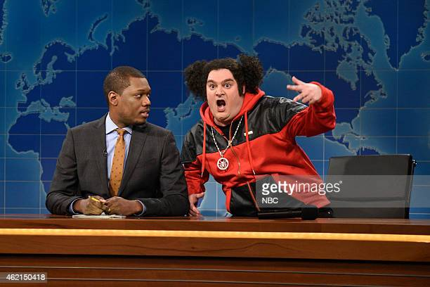 LIVE Blake Shelton Episode 1674 Pictured Michael Che and Bobby Moynihan as Riblet during Weekend Update on January 24 2015