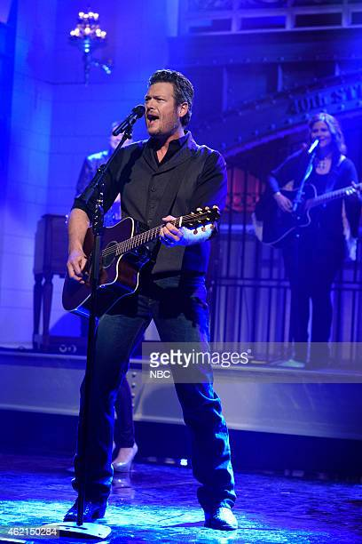 LIVE Blake Shelton Episode 1674 Pictured Musical guest Blake Shelton performs on January 24 2015