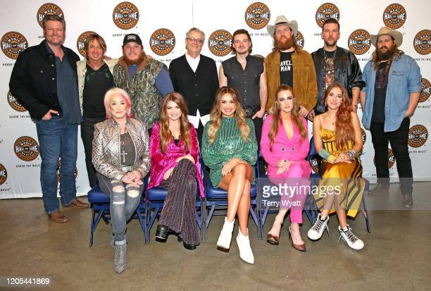 Blake Shelton, Keith Urban, Luke Combs, Country Music Hall of Fame and Museum CEO Kyle Young, Morgan Wallen, John Osborne, TJ Osborne, Chris...
