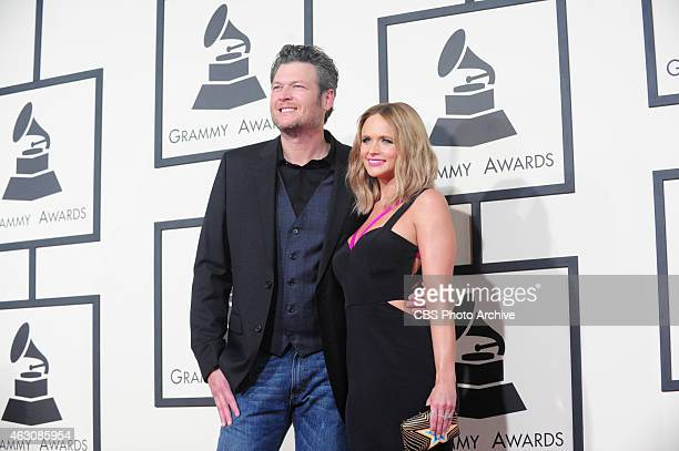 Blake Shelton Miranda Lambert on the Red Carpet during The 57th Annual Grammy Awards Sunday Feb 8 2015 at STAPLES Center in Los Angeles and broadcast...