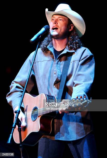 Blake Shelton performing as part of the Shock'n Y' All Fall tour 2003 on August 30 2003 at Shoreline Amphitheater CA Blake is currently on tour in...
