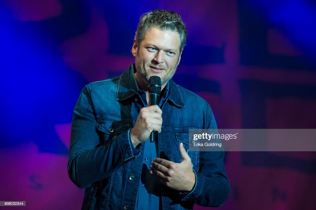 Blake Shelton And Ryman Hospitality Properties Inc. Press Conference To Celebrate The Grand Opening Of Ole Red Tishomingo Restaurant And Bar : News Photo