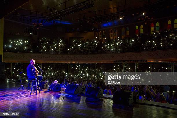 Blake Shelton performs during the 12th Annual Stars For Second Harvest Benefit at Ryman Auditorium on June 7, 2016 in Nashville, Tennessee.