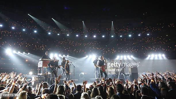 Blake Shelton performs during the 49th annual CMA Awards at the Bridgestone Arena on November 4 2015 in Nashville Tennessee