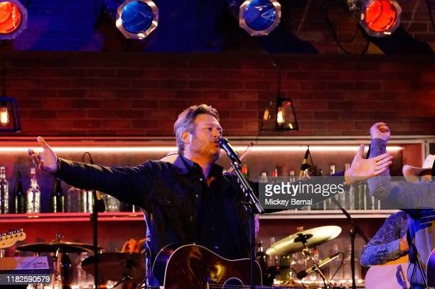 Blake Shelton performs onstage at the 53rd annual CMA Awards at the Bridgestone Arena on November 13 2019 in Nashville Tennessee