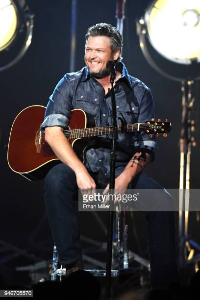 Blake Shelton performs onstage during the 53rd Academy of Country Music Awards at MGM Grand Garden Arena on April 15, 2018 in Las Vegas, Nevada.