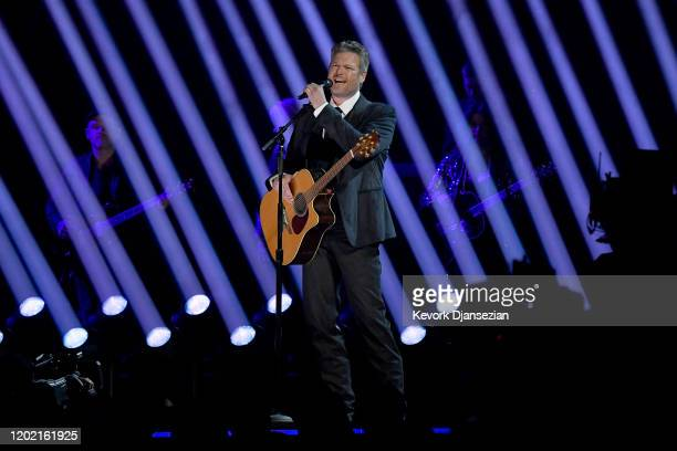 Blake Shelton performs onstage during the 62nd Annual GRAMMY Awards at Staples Center on January 26, 2020 in Los Angeles, California.