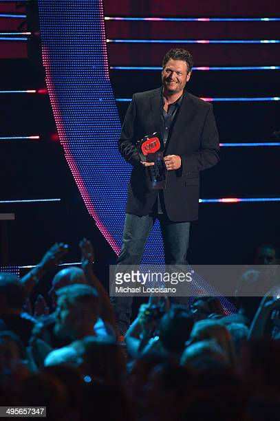 Blake Shelton speaks onstage at the 2014 CMT Music Awards at Bridgestone Arena on June 4 2014 in Nashville Tennessee