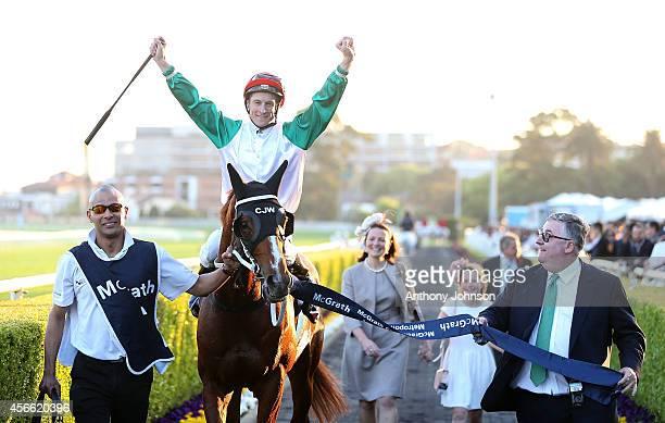 Blake Shinn rides Junoob to win the Metropolitan during Sydney Racing at Royal Randwick Racecourse on October 4 2014 in Sydney Australia