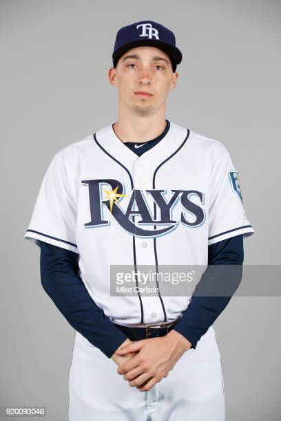 Blake Snell of the Tampa Bay Rays poses during Photo Day on Sunday February 18 2018 at Charlotte Sports Park in Port Charlotte Florida