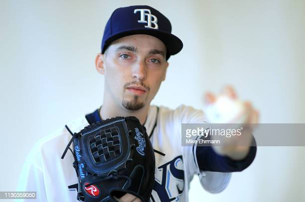 Blake Snell of the Tampa Bay Rays poses for a portrait during photo day on February 17 2019 in Port Charlotte Florida
