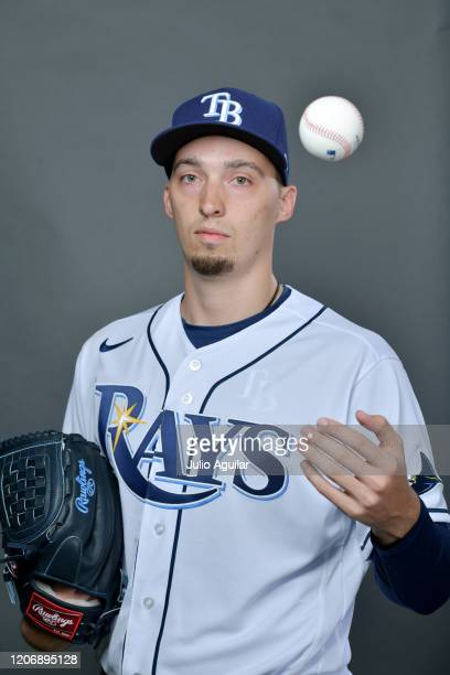 Blake Snell of the Tampa Bay Rays poses for picture day on February 17, 2020 in Port Charlotte, Florida.