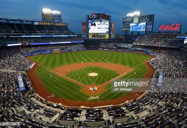 Blake Snell of the Tampa Bay Rays throws the first pitch of the game to Brett Gardner of the New York Yankees at Citi Field on September 12 2017 in...