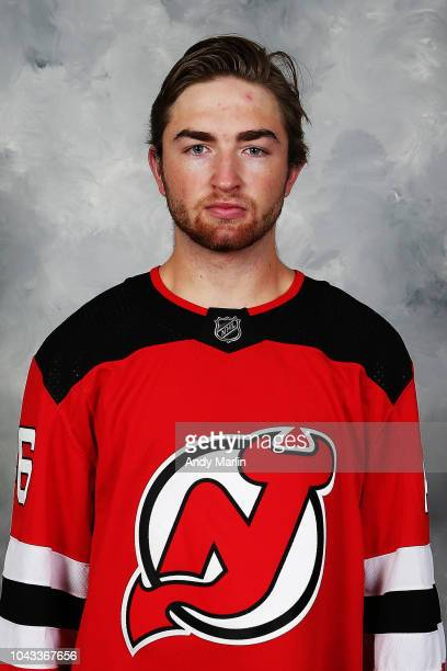 Blake Speers of the New Jersey Devils poses for his official headshot of the 20182019 season on September 13 2018 at Prudential Center in Newark New...